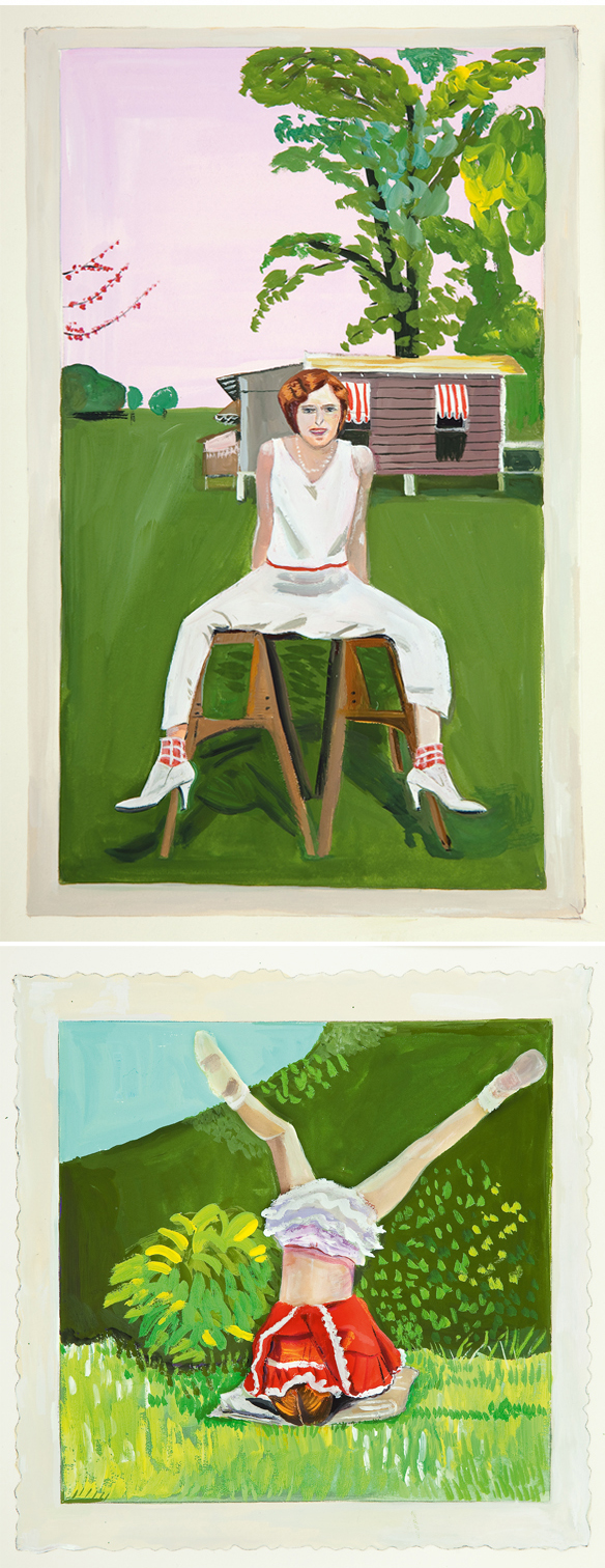 I love this, probably because I love New York based artist/illustrator Maira  Kalman so much, not to mention my love for vintage photographs of girls ...