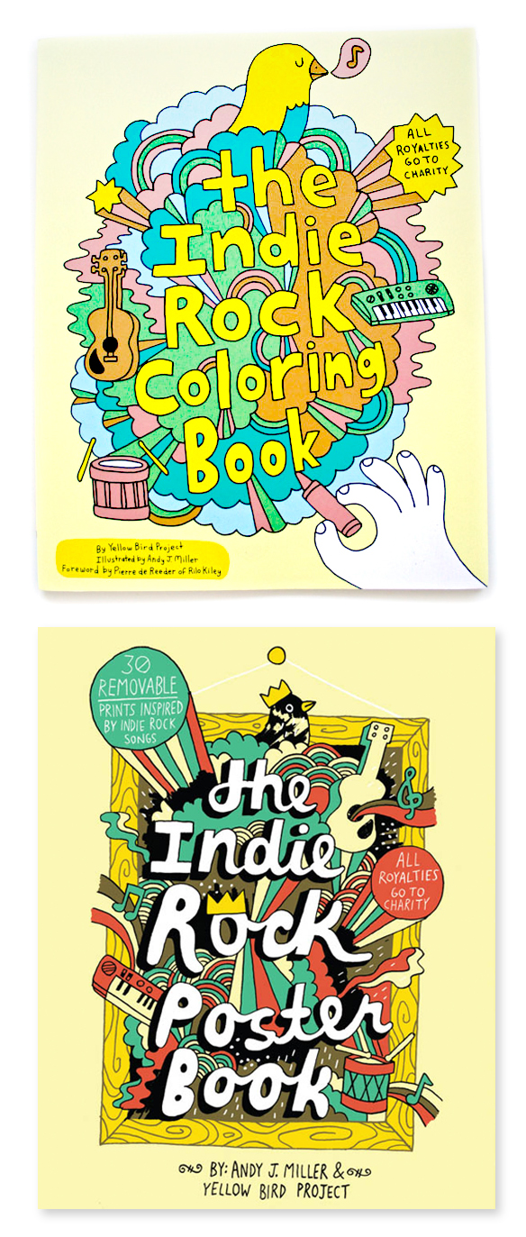 Oh And Look At This The First Books He Did With Chronicle Indie Rock Coloring Book Poster