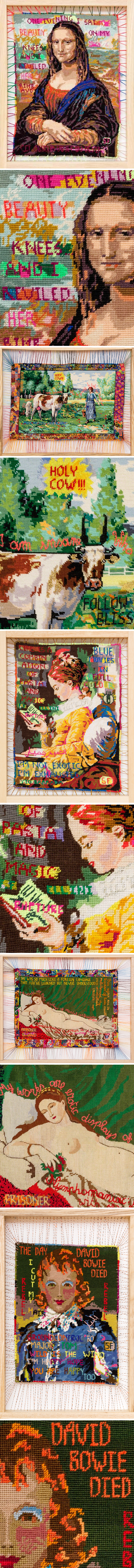 The Jealous Curator Curated Contemporary Art Embroidery